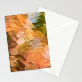 Cinnamon Mosaic Abstract Art Stationery Cards