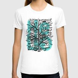 hello ni hao ciao konnichiwa T-shirt