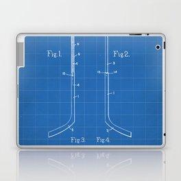 Ice Hockey Stick Patent - Ice Hockey Art - Blueprint Laptop & iPad Skin