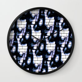 GYE FAWKES BRICK WALL MULTI Wall Clock
