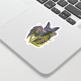 bat & bull thistle Sticker