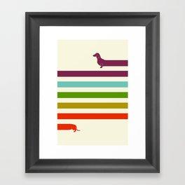 (Very) Long Dachshund Framed Art Print