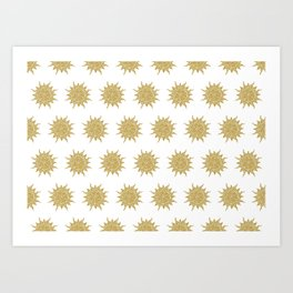 Mosaic Sun Art Print