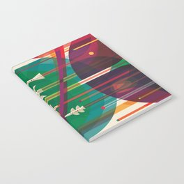 NASA Retro Space Travel Poster The Grand Tour Notebook