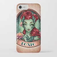 pinup iPhone & iPod Cases featuring TOXIC pinup by Tim Shumate