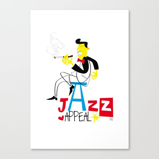jazz appeal Canvas Print