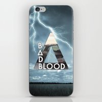 bastille iPhone & iPod Skins featuring Bastille - Bad Blood by Thafrayer