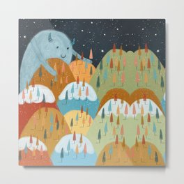 the rainbow forest Metal Print