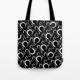 Enso Circle - Zen pattern on black with gold Tote Bag