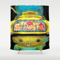 the life aquatic Shower Curtains featuring Earth Aquatic by ScoDeluxe