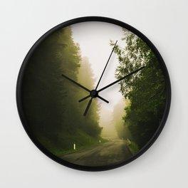 Misty Mountain Road Wall Clock