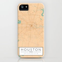 Houston Map - Color iPhone Case