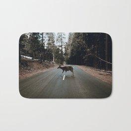 Deer Crossing / Yosemite, California Bath Mat