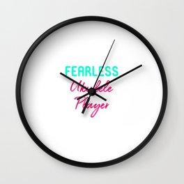 Fearless Ukulele Player Strumming Uke Life Wall Clock