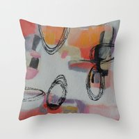 macaroons Throw Pillows featuring Macaroons by Patricia Schwimmer