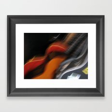 Guitars (ANALOG zine) Framed Art Print