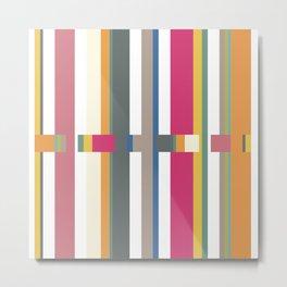 Geometric Glitch Metal Print