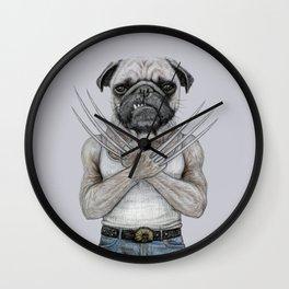 dog drawing Wall Clock