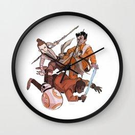 Poe Rey Finn BB-8 Wall Clock