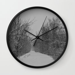 The Road that Leads to Nowhere Wall Clock
