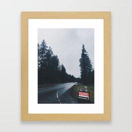 Road to Portland Framed Art Print