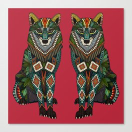 wolf red Canvas Print