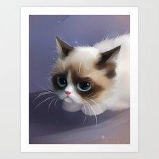 little grumpy things Art Print