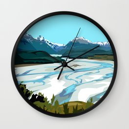 Dart River Valley, Glenorchy Wall Clock