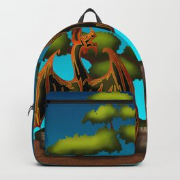 Hot Coffee with Bonsai and Fire Dragons Backpack