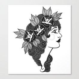 Pinup Profile Canvas Print