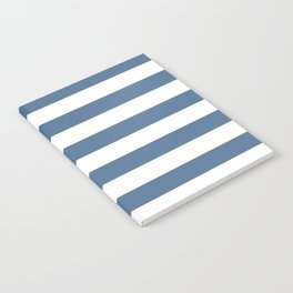 Blue and White Stripes Notebook