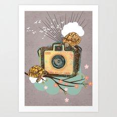 Vintage Camera Kodak Brownie Bullet Art Print