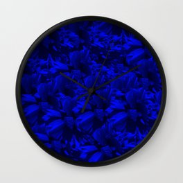 A202 Rich Blue and Black Abstract Design Wall Clock