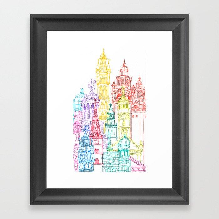 Glasgow Towers Framed Art Print