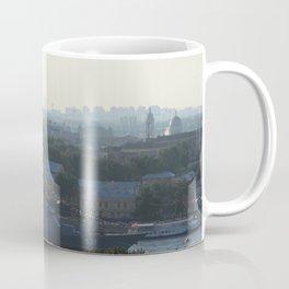 """Russian Navy Battleship """"Soobrazitelniy"""" on Neva River. Coffee Mug"""