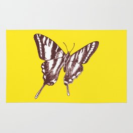Butterfly on Yellow Rug