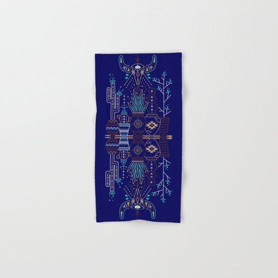 Santa Fe Garden – Navy Hand & Bath Towel