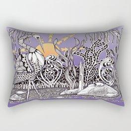 Zentangle Daylight in the Swamp Rectangular Pillow