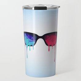3D Psychedelic / Goa Meditation Glasses (low poly) Travel Mug