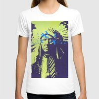 native american T-shirts featuring Native American  by Ty McKie Creations