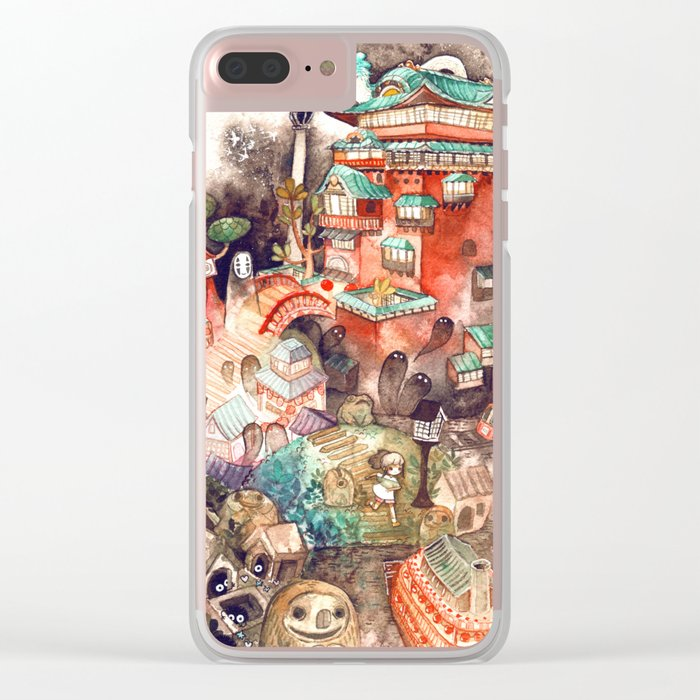 Spirited Away Clear iPhone Case