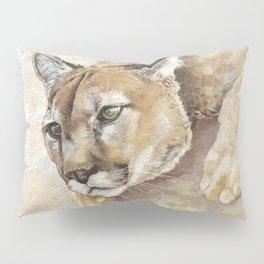 Captivated Mountain Lion Pillow Sham