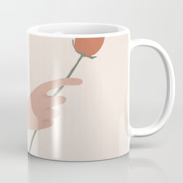One Rose Flower Coffee Mug