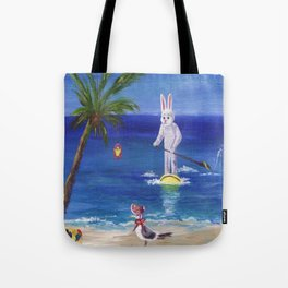 Easter Bunny at the Beach Tote Bag