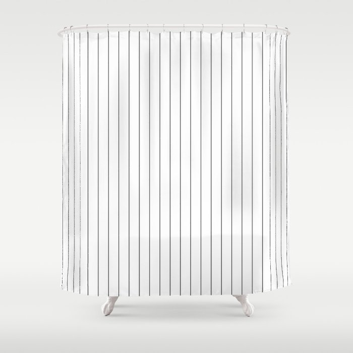 535d38e7 White Black Pinstripes Minimalist Shower Curtain by beautifulhomes ...
