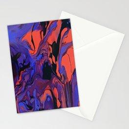 Blue, Teal and Orange Fantasy Stationery Cards