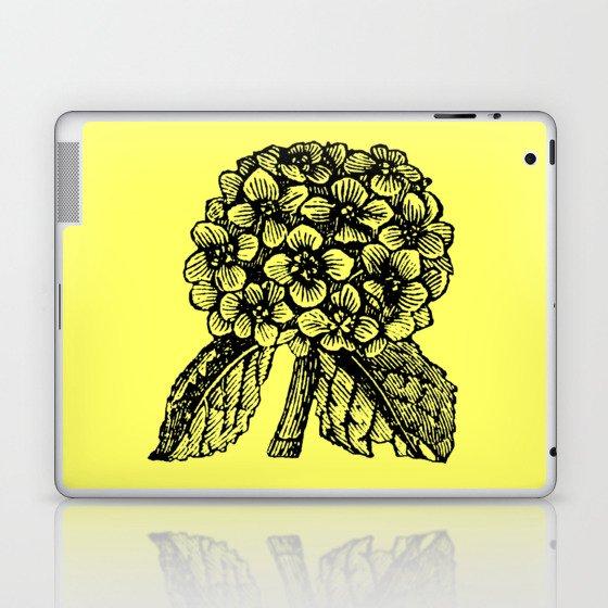 Yellow Hydrangea Laptop & iPad Skin