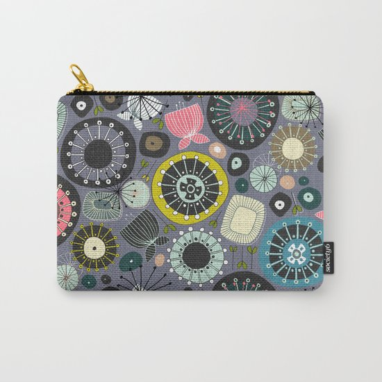 blooms amethyst Carry-All Pouch