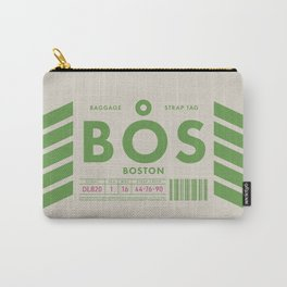 Luggage Tag D - BOS Boston USA Carry-All Pouch