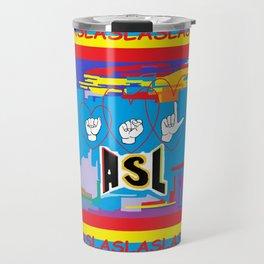 I Open Heart ASL Travel Mug